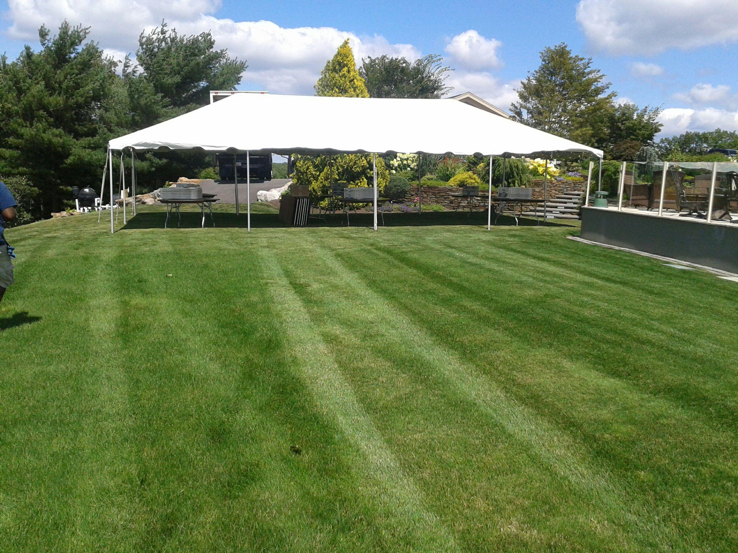 20′ x 40′ White Frame Tent – A-Z Rent All