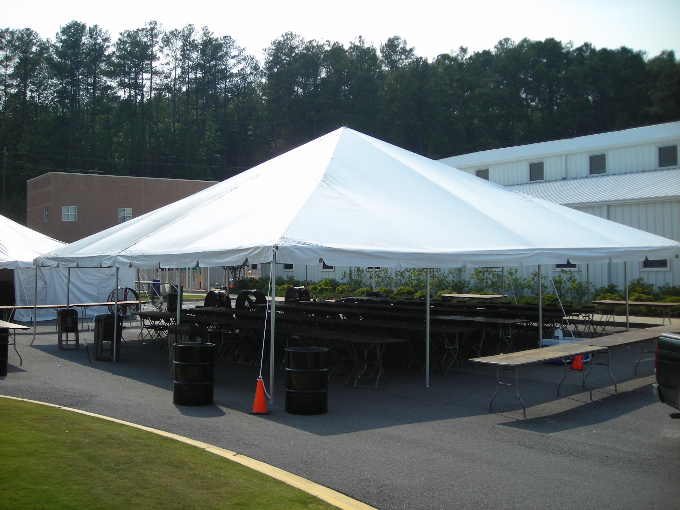 40 X 40 White Frame Tent A Z Rent All