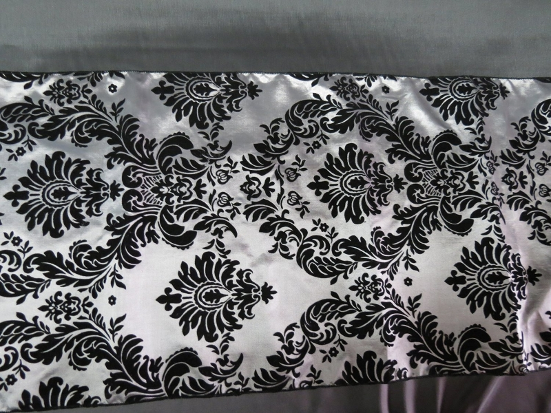 Beautiful Black And White Damask Table Runner