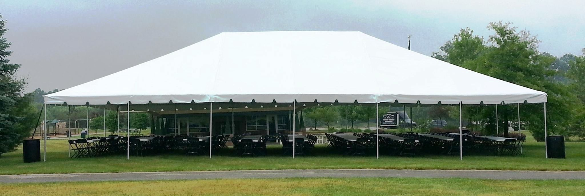 40 x 60 white frame tent a z rent all. Black Bedroom Furniture Sets. Home Design Ideas